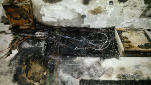 изгорели кабели смяна